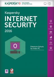 Kaspersky Internet Security 2016 1 User 2 Jahre, Download, Win, Deutsch (KL1867GCADS)